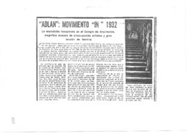 """ADLAN"": movimiento ""in"" 1932"